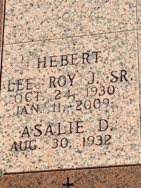 Lee Roy Joseph Hebert 1930-2009