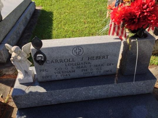PFC Carroll J Hebert Headstone