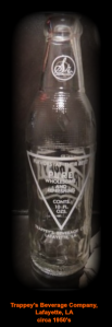 Vintage ACL Classic Trappey s Beverages Soda Bottle Lafayette La Louisiana 10oz   eBay2